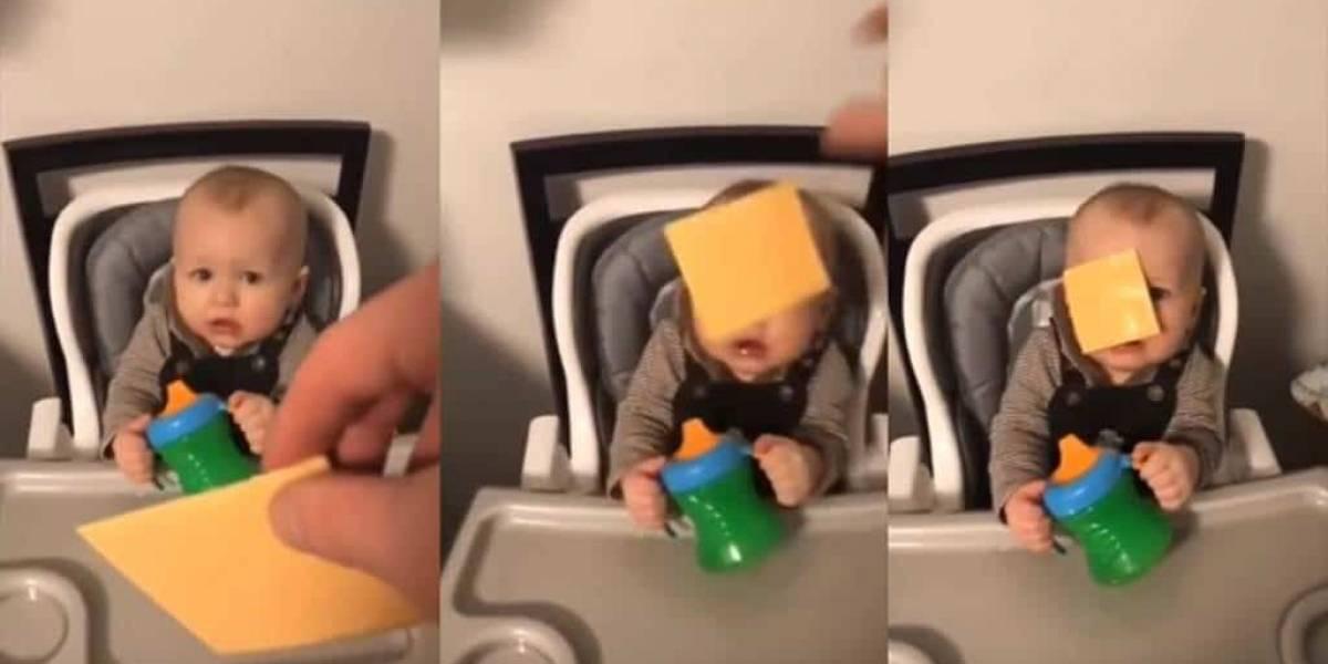 La gente está lanzándole quesos a bebés por un nuevo reto viral