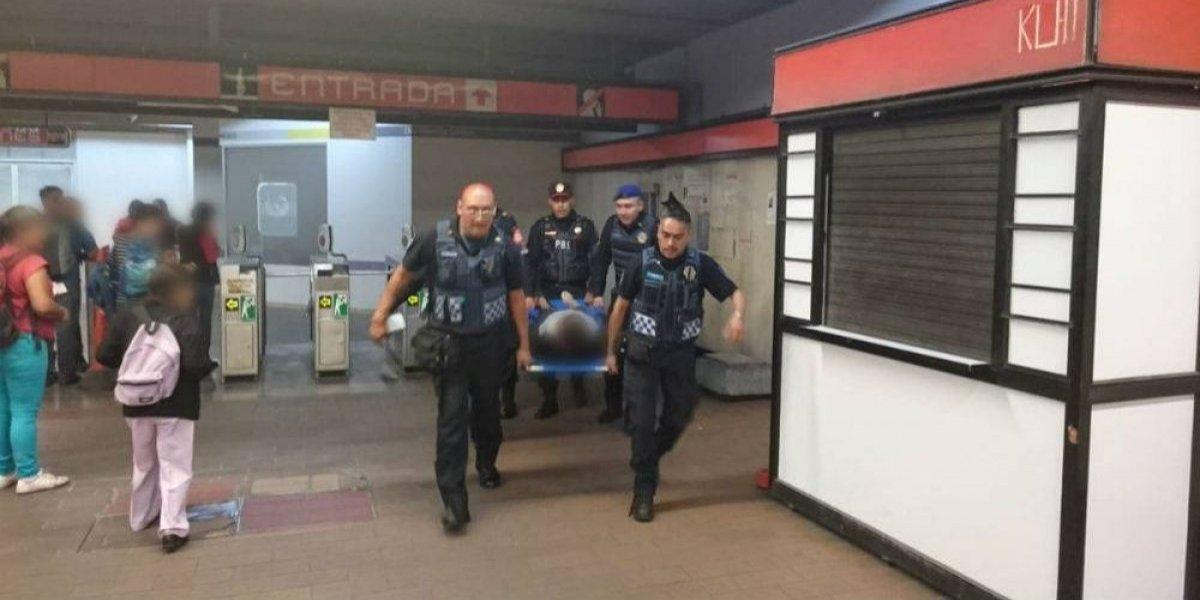 Falla de escalera eléctrica en Metro Mixcoac deja 8 personas heridas