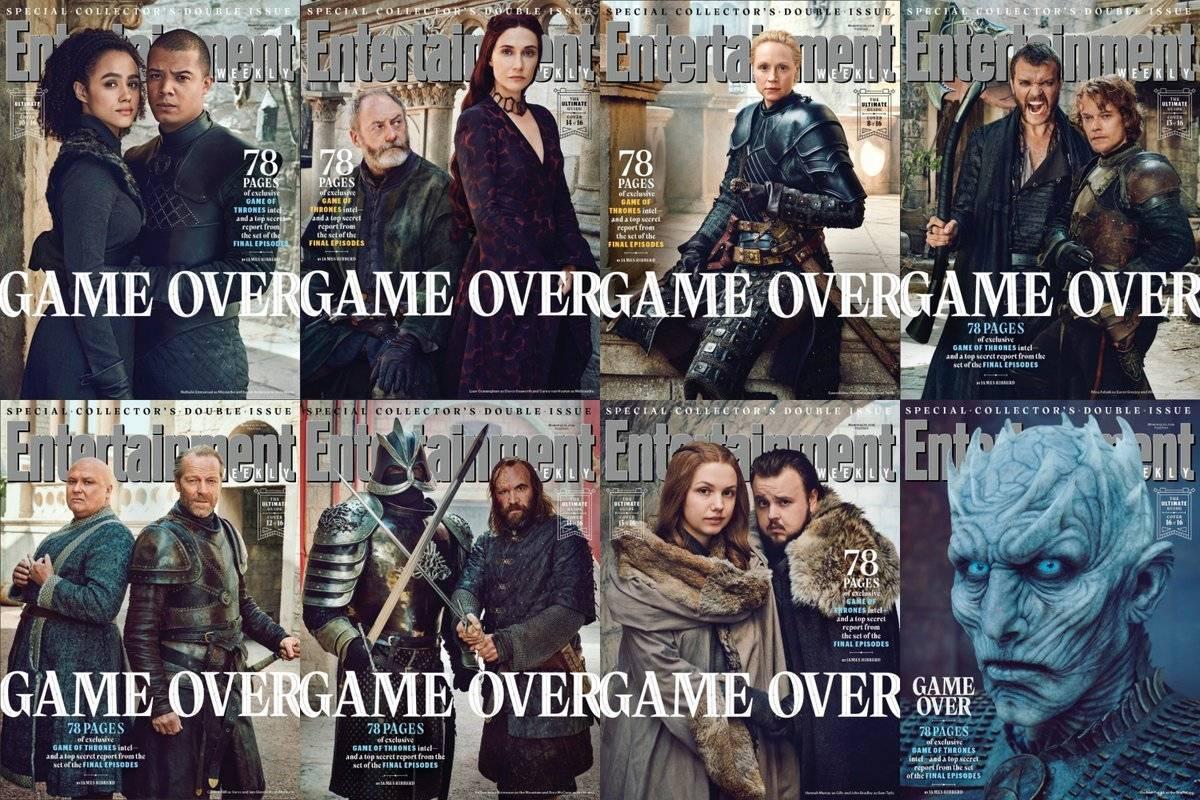 ¡Spoilers!: EW lanza 16 portadas para despedir a Game of Thrones