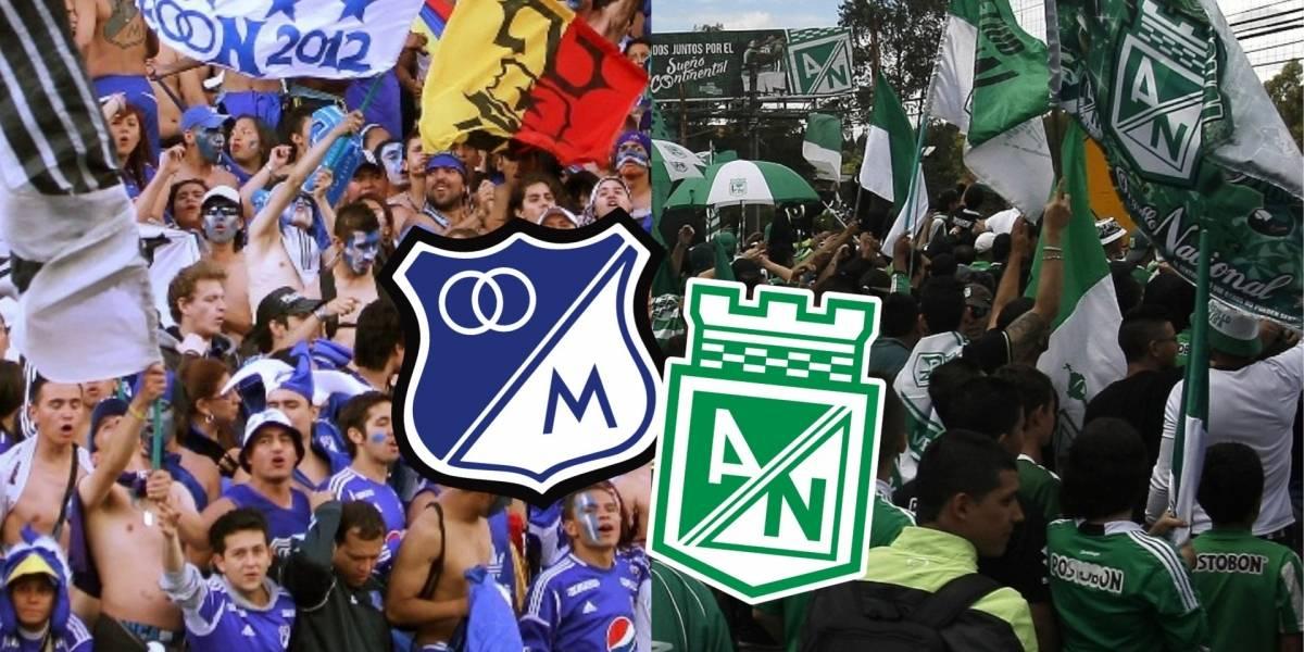 Millonarios vs Nacional no tendrá barras populares del equipo antioqueño