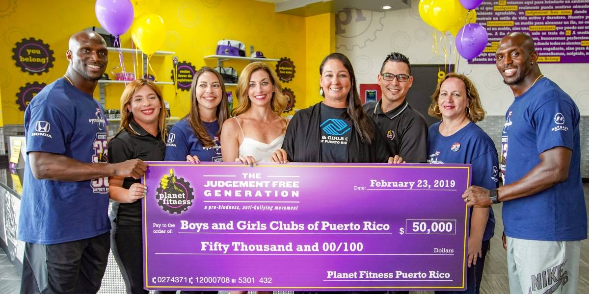 Planet Fitness Puerto Rico entrega donativo al Boys & Girls Club de Puerto Rico