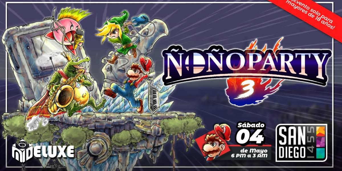 Se viene la Ñoño Party 3: La fiesta con temática gamer con música de videojuegos