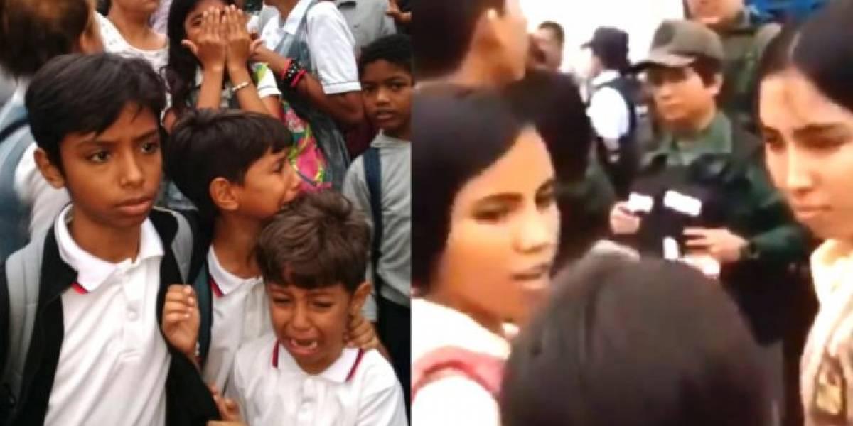Niños que querían ir al colegio fueron ahuyentados por Guardia venezolana con gases