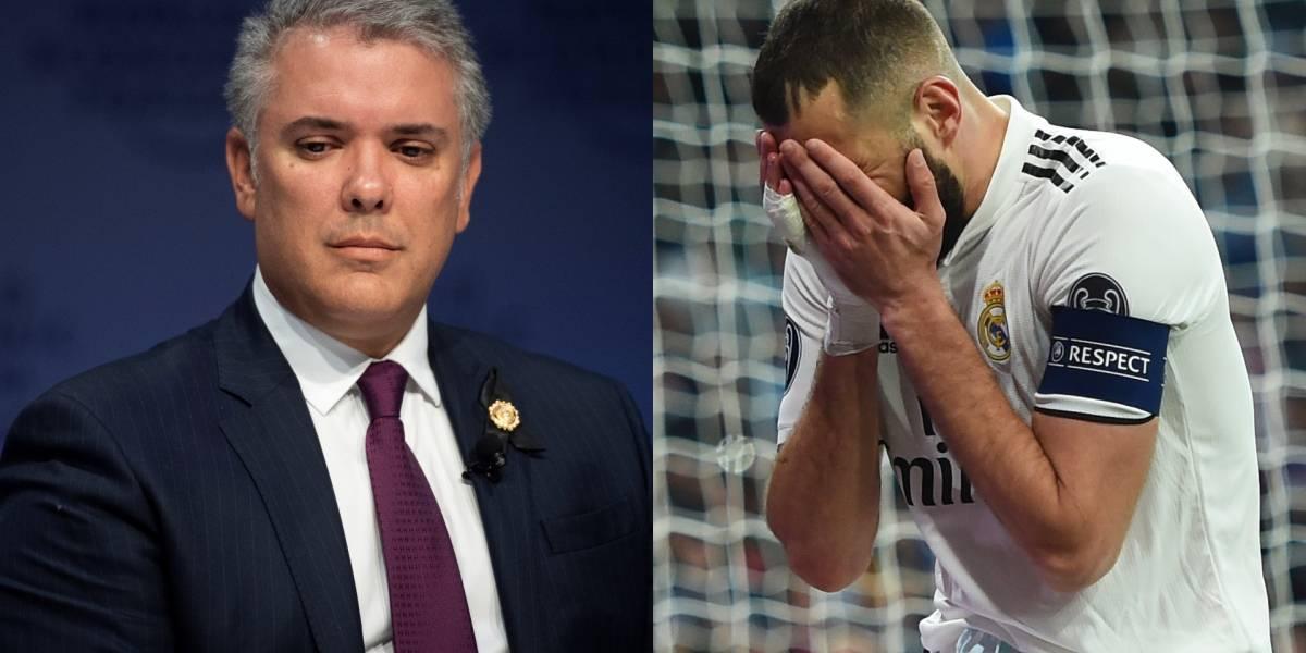 La razón por la que 'culpan' a Iván Duque de la eliminación del Real Madrid en Champions