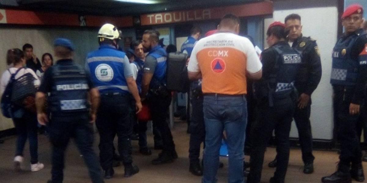 Una falla en las escaleras eléctricas de la estación Mixcoac del Metro de México deja 8 heridos