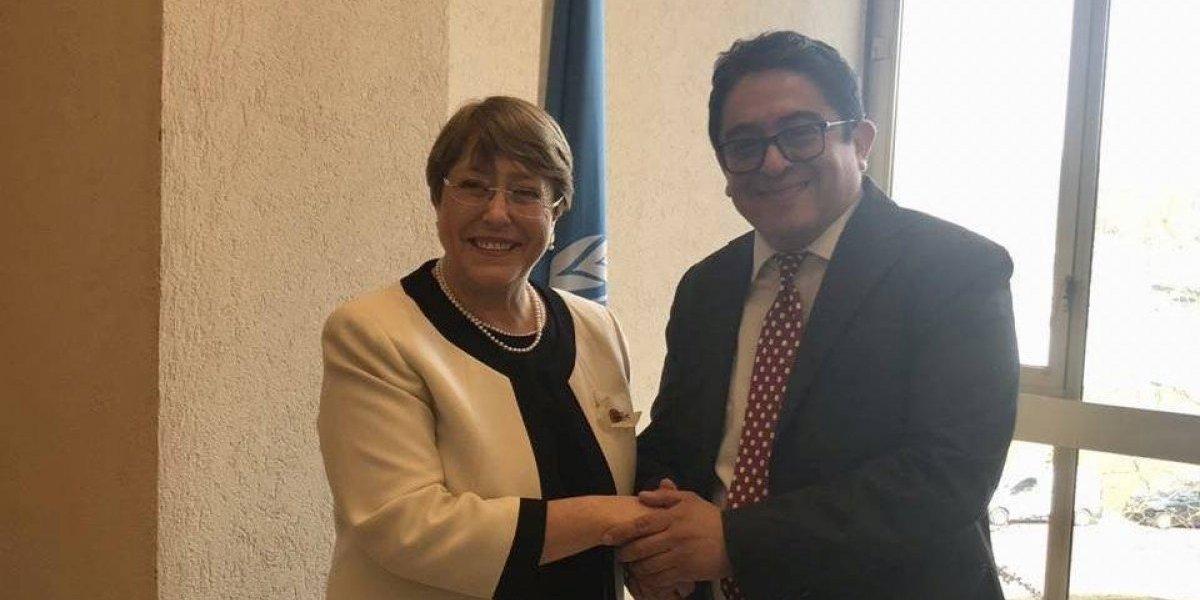 Procurador Rodas se reúne con Alta comisionada de ONU para los DD. HH.