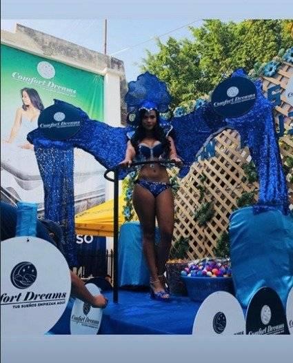 Bariatti en una carroza durante el Carnaval mazateco. Foto: Captura de pantalla