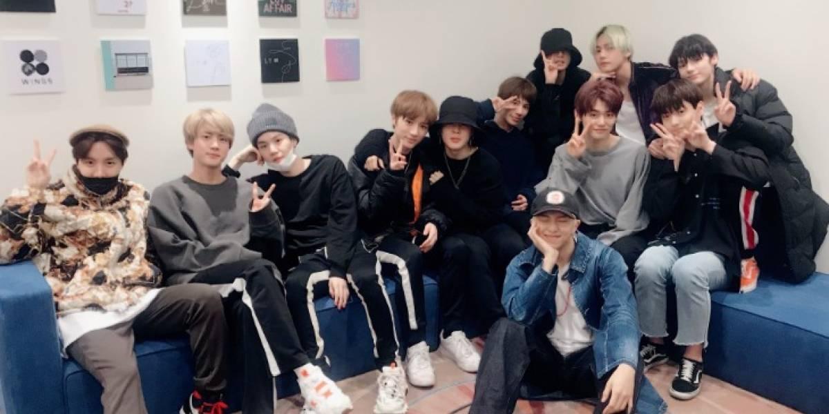 Grupo BTS e TXT compartilham foto juntos e causam furor na redes