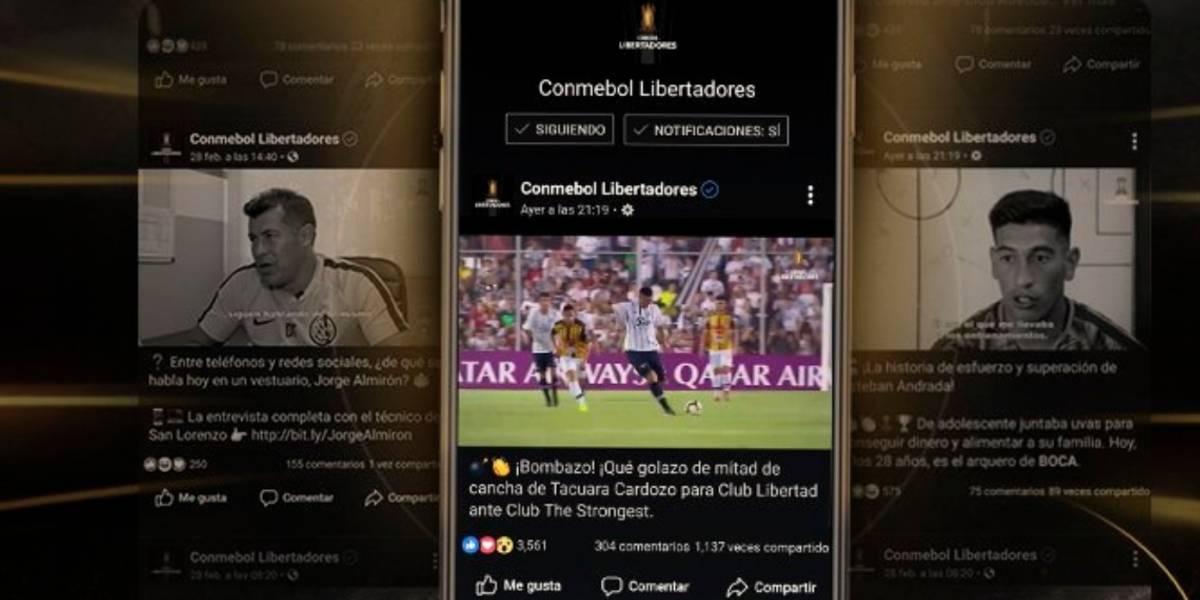 ¿Cómo ver los partidos de Copa Libertadores por Facebook Watch?