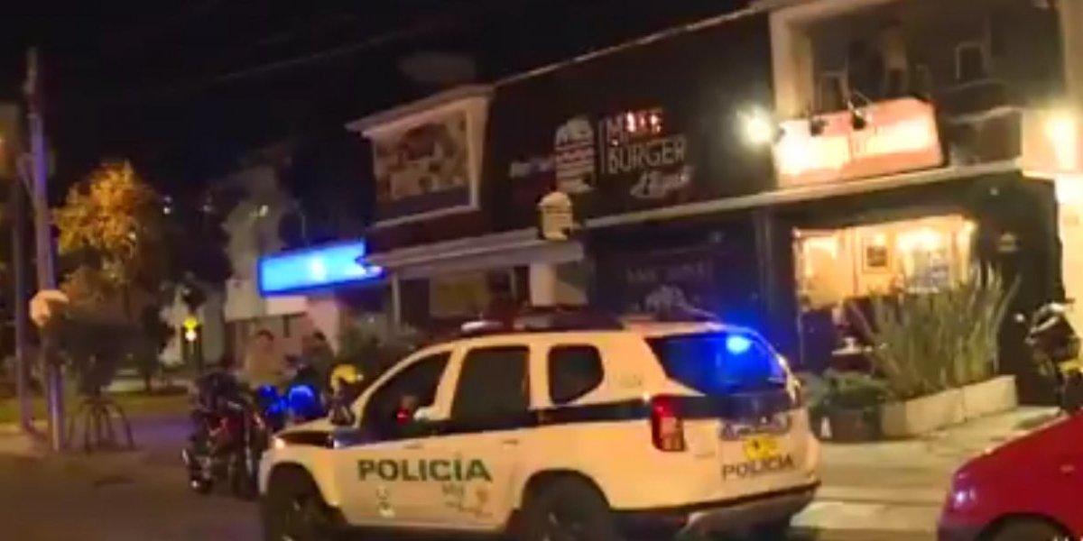 Asalto en restaurante del norte de Bogotá produce pánico a los ciudadanos