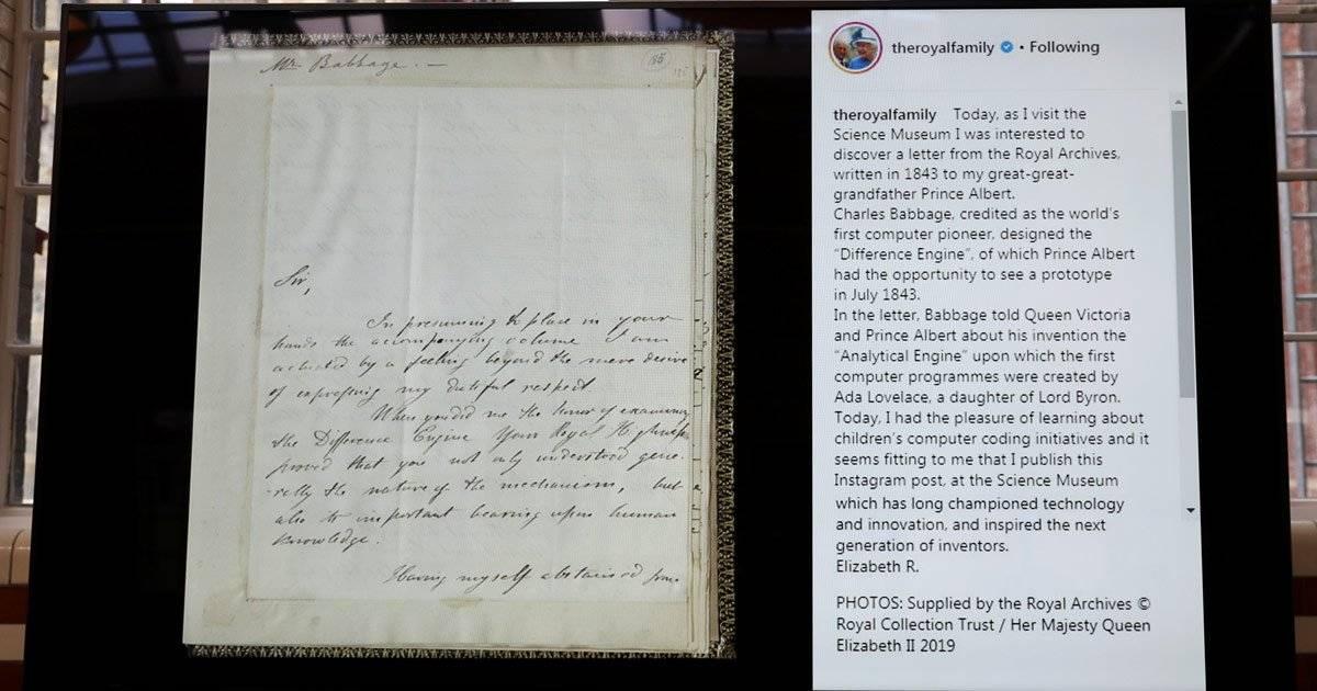 família real primeiro post do instagram da rainha
