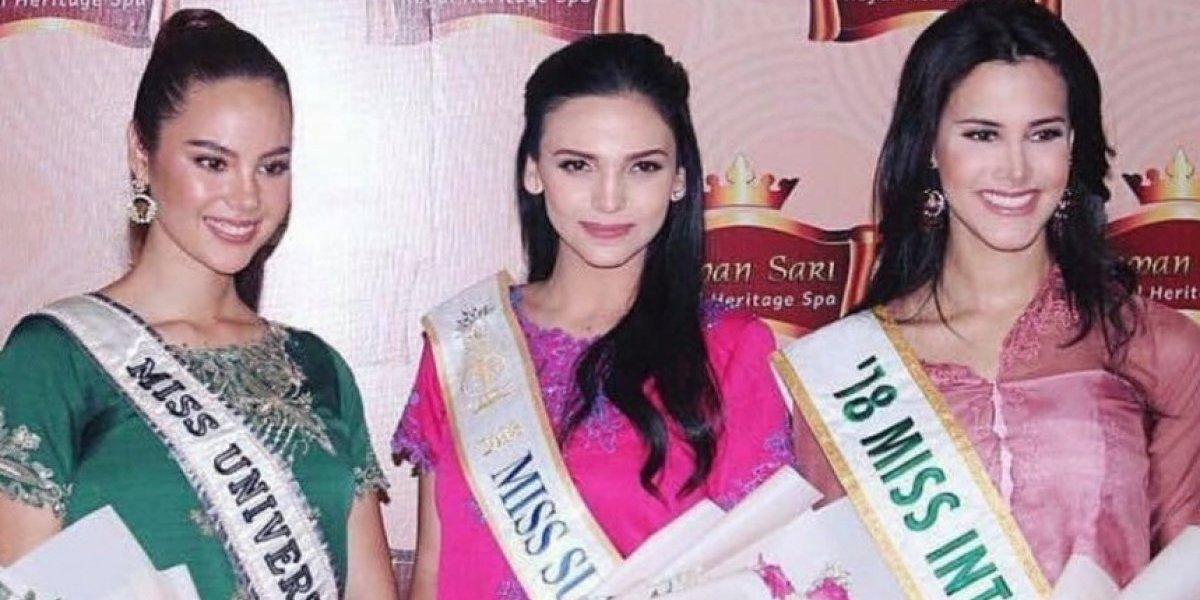 Reinas internacionales se juntan en Indonesia