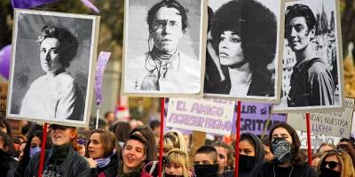 protesto madrid feminista