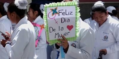 enfermeiras bolivia dia da mulher