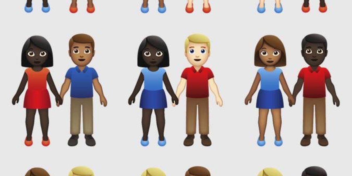 Inventores de los emojis incluyen parejas interraciales por petición de Tinder