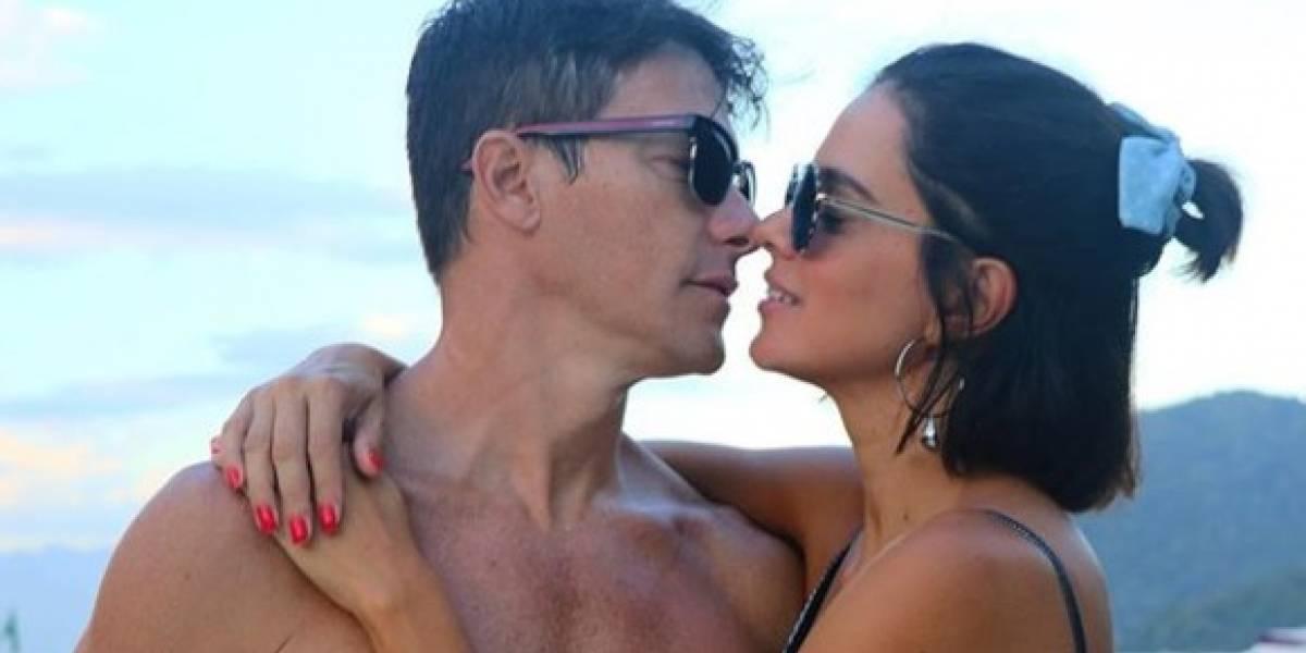 """Rodrigo Faro compartilha foto beijando esposa e seguidores afirmam: """"Bruna deu troco em Neymar"""""""