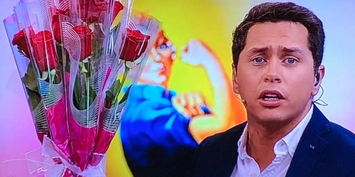 """Karol Lucero es criticado por regalar flores, hablar de feminismo y desear un """"feliz día de la mujer"""""""