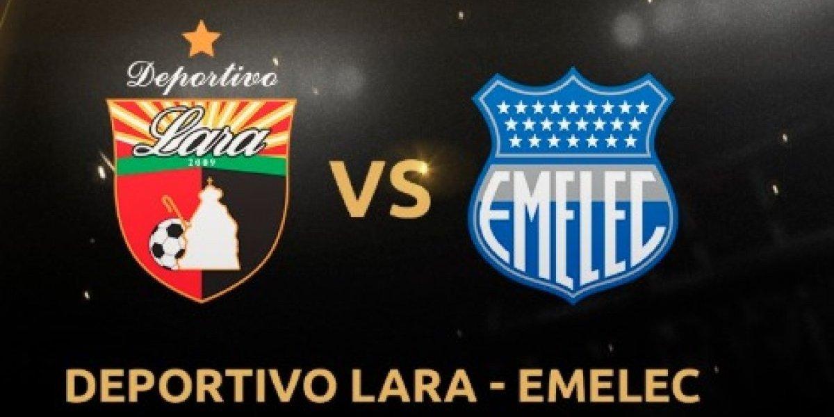 Copa Libertadores: Deportivo Lara vs Emelec. En vivo, donde ver el partido, hora y alienaciones