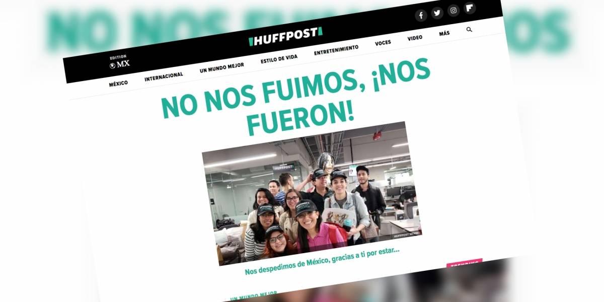 HuffPost México: Staff reporta cierre imprevisto y despido masivo