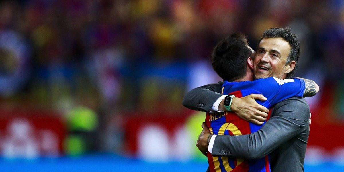 Luis Enrique reveló que tuvo momentos de tensión con Messi en el Barcelona