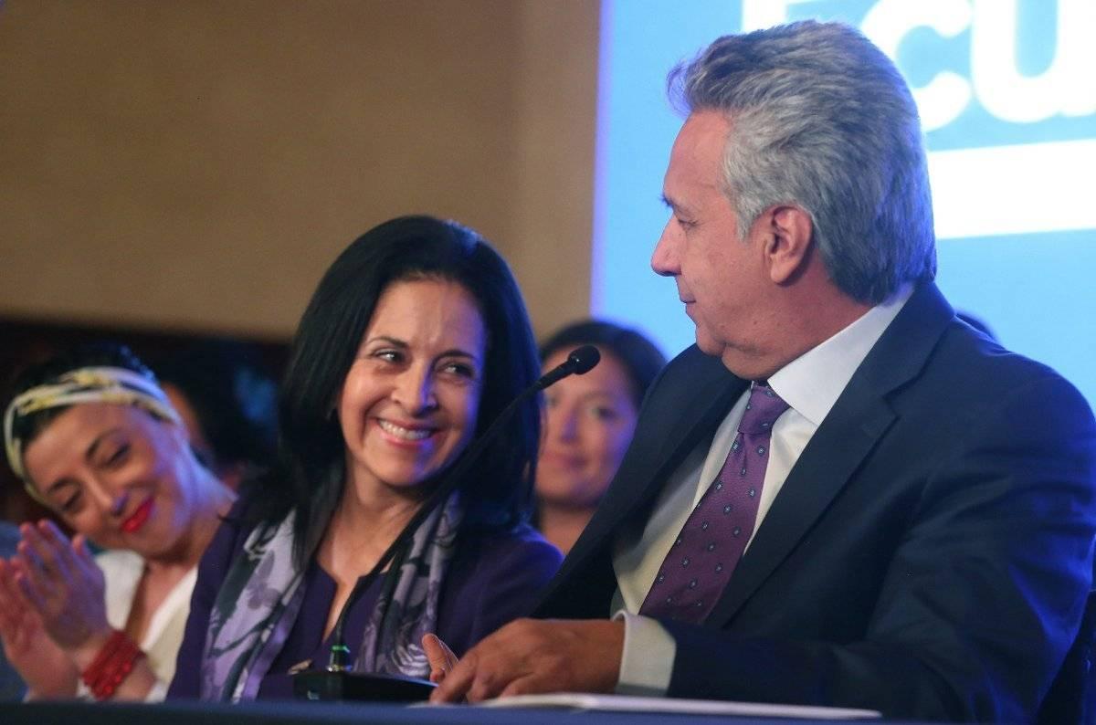 Lenín Moreno y su esposa