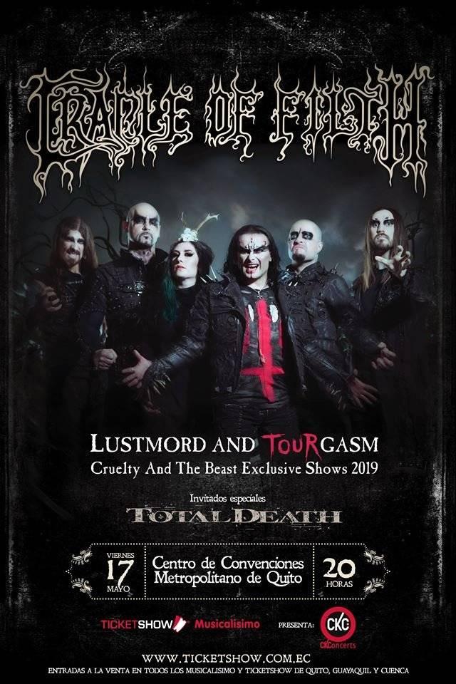 Noche de Metal, Cradle of Filth llegará a Ecuador