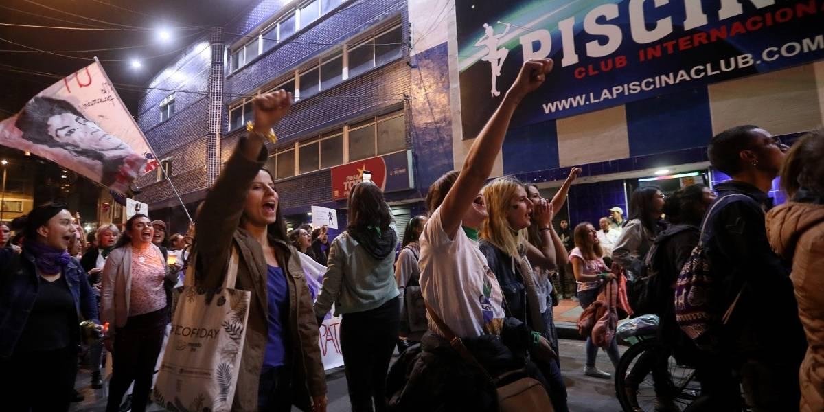 Feministas marcharon por las calles de Bogotá a favor de la igualdad