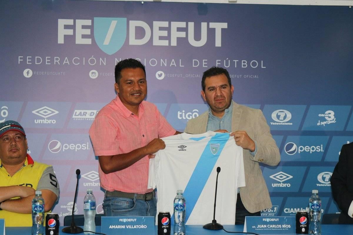 Presentación Amarini Villatoro técnico Selección Nacional