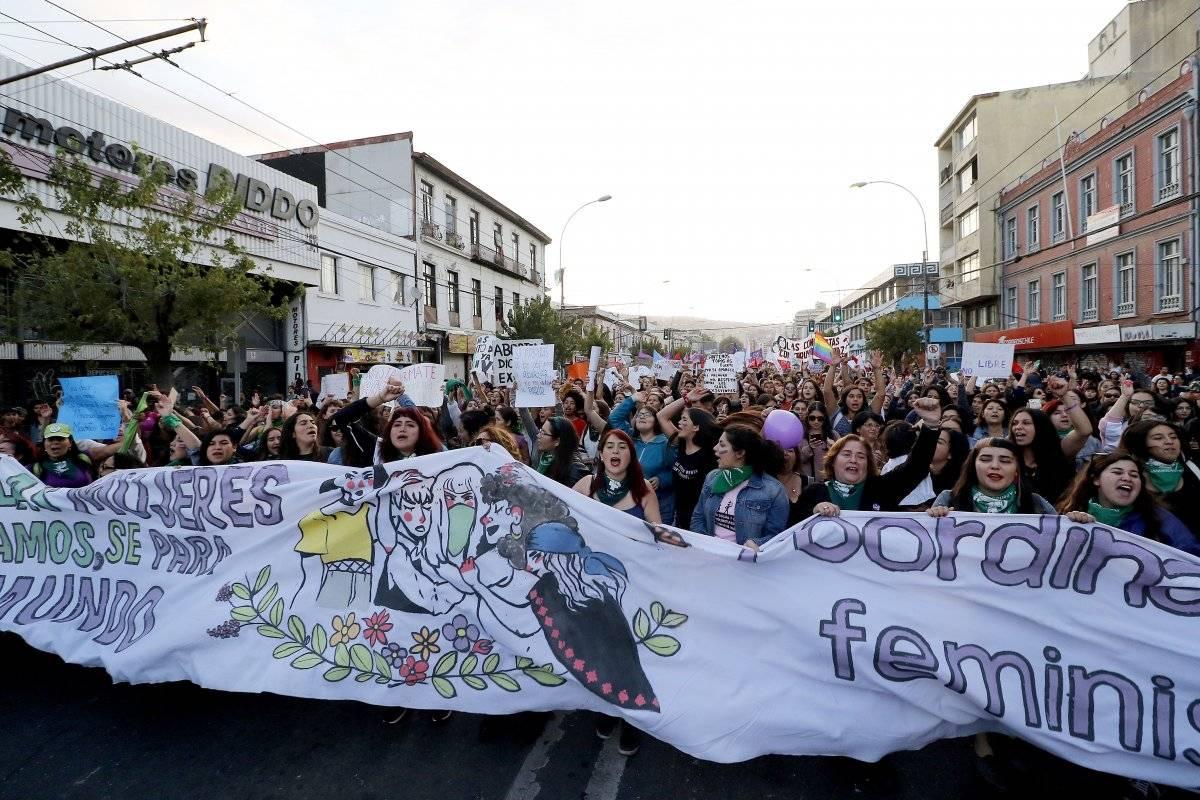marcha 8M Valparaíso