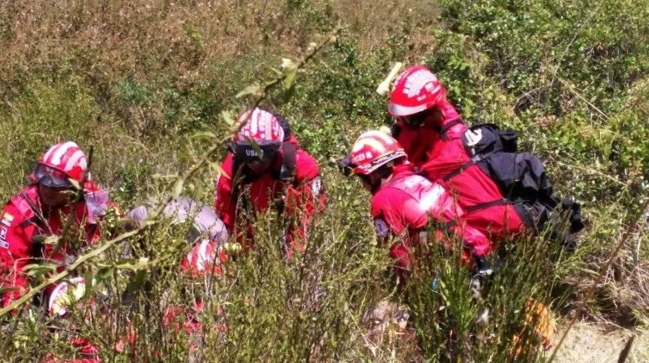En el accidente de parapentista registrado en el cerro Auqui Bomberos Quito