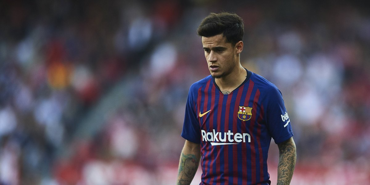 Con abucheos y silbidos el Camp Nou recriminó la pobre actuación de Coutinho
