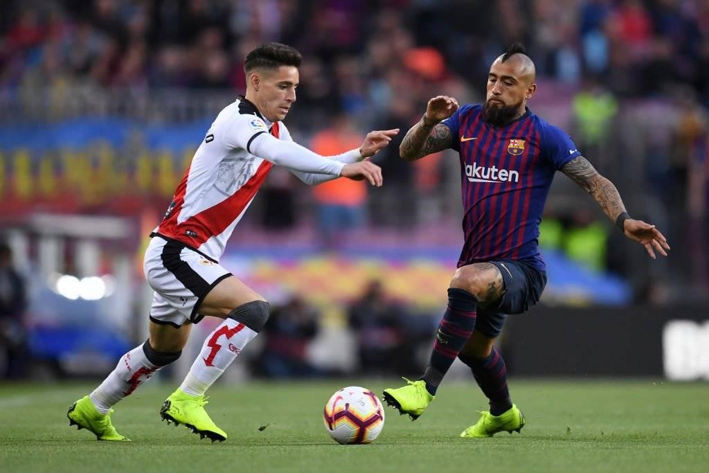 Arturo Vidal tuvo un gran desempeño en Barcelona ante la mirada de Alexis Sánchez / Foto: Getty Images