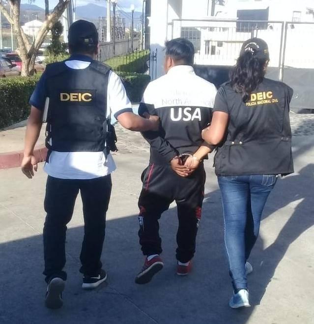 José Estuardo Pretzantzin Chamorro, capturado. Foto: PNC