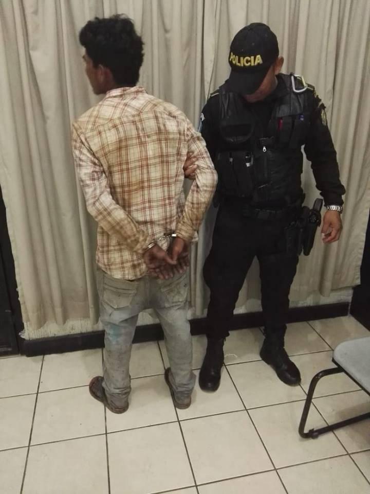 Luis Antonio Quevedo Mencos, capturado. Foto: PNC