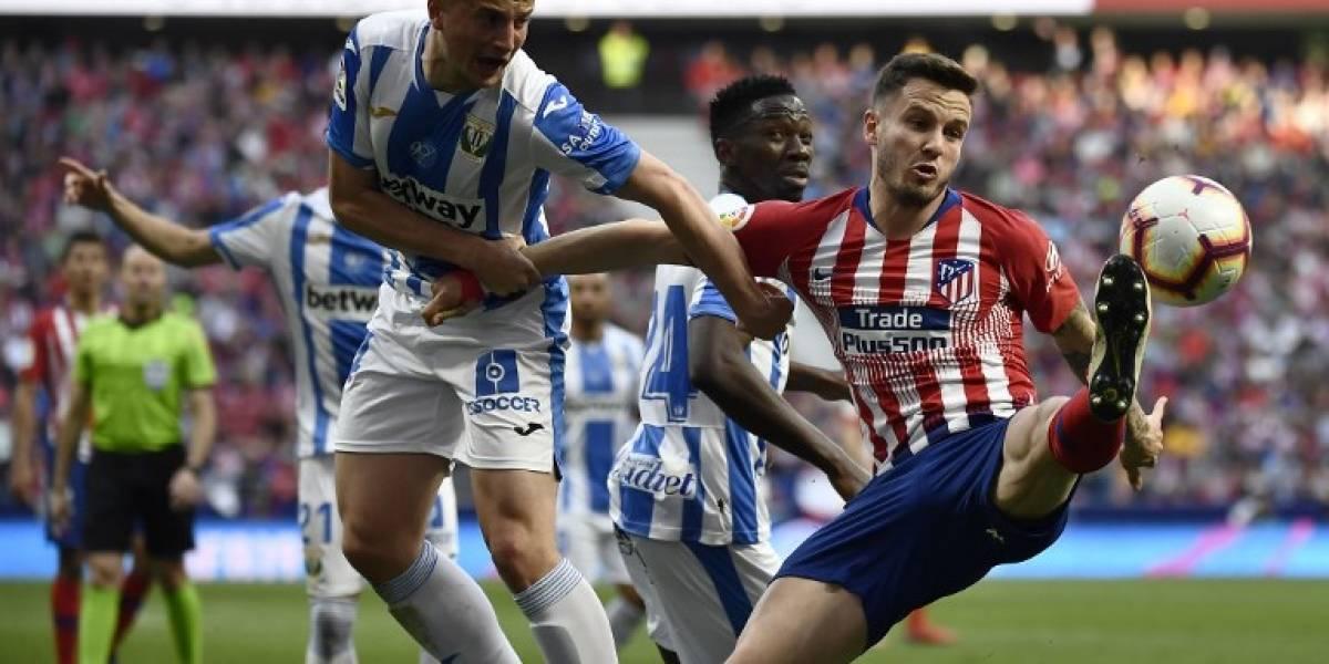 Atlético de Madrid sigue con vida tras vencer por la mínima al Leganés