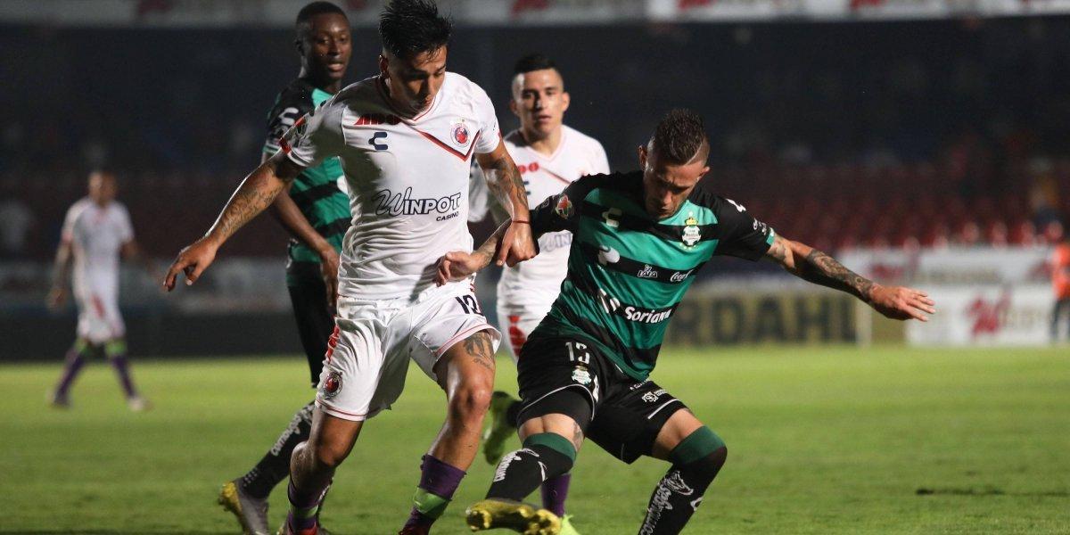 Veracruz empata con Santos y continúa sin ganar en el torneo