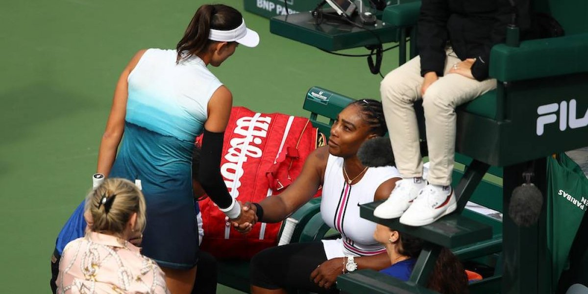 Serena Williams se retira de Indian Wells