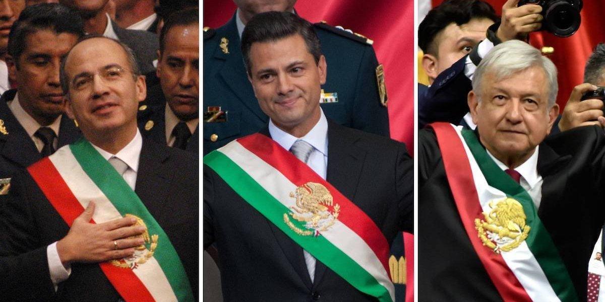 Los 100 primeros días de AMLO, Peña y Calderón