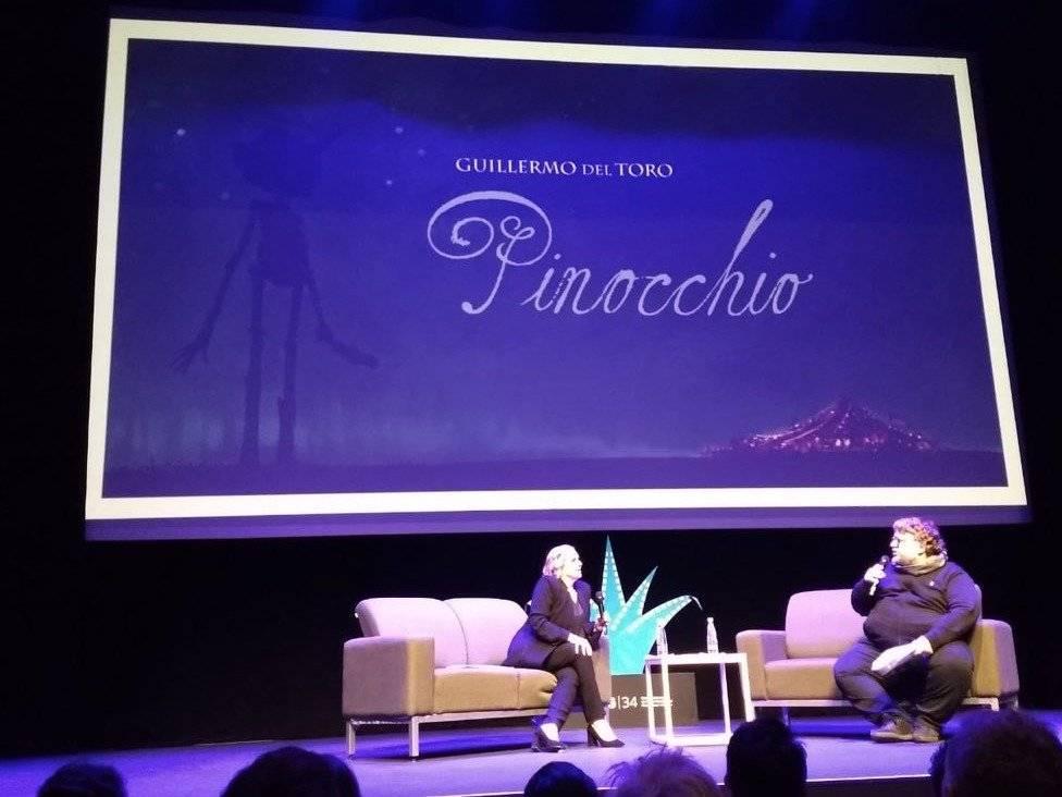Guillermo del Toro en el estival Internacional de Cine de la ciudad de Guadalajara
