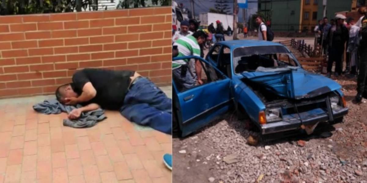 Video: Comunidad linchó a supuesto ladrón y destruyó su carro en Bogotá