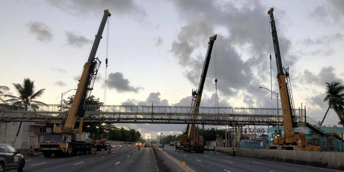 Cierran tramo de expreso Baldorioty para remover dos puentes peatonales