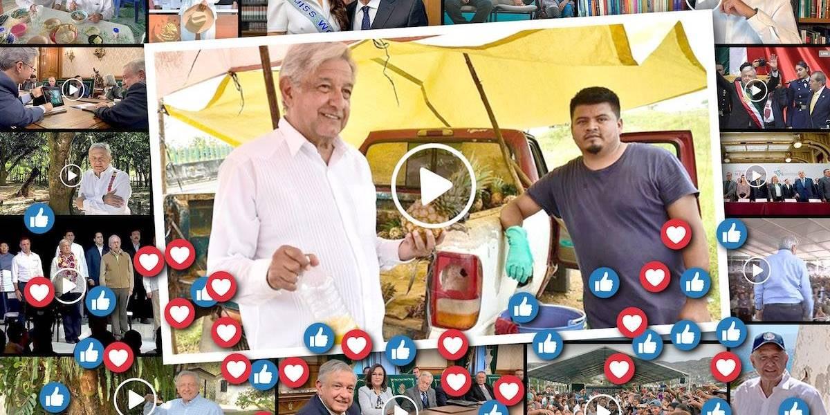 Popularidad de AMLO crece 30% en redes sociales