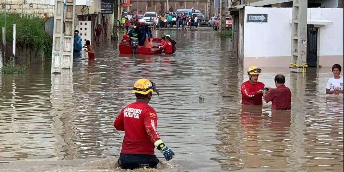 Más de 7.000 afectados por fuertes lluvias en Manabí