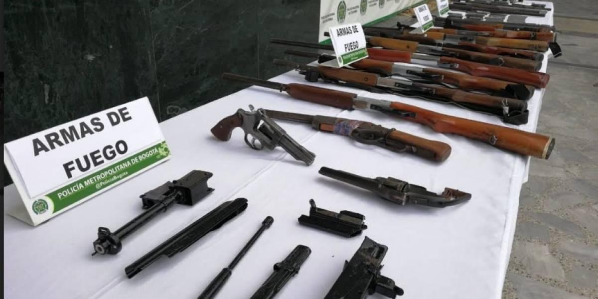 Desmantelan casa en Bogotá donde se fabricaban y reparaban armas