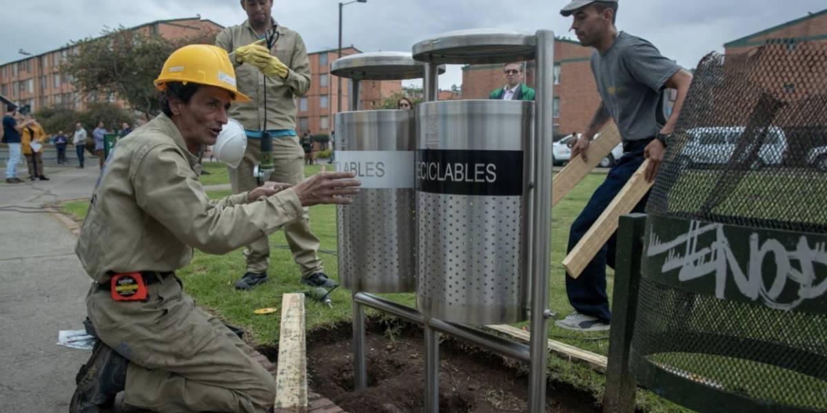 Así son las nuevas canecas de basura que instaló el Distrito en toda la ciudad