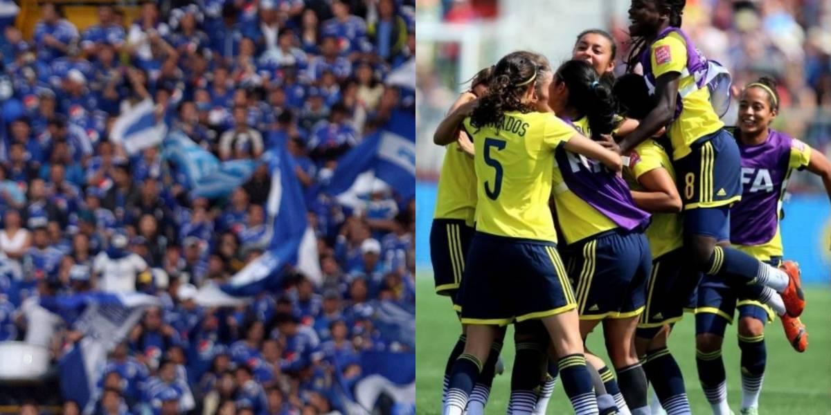 El maravilloso gesto de la hinchada de Millonarios apoyando el fútbol femenino