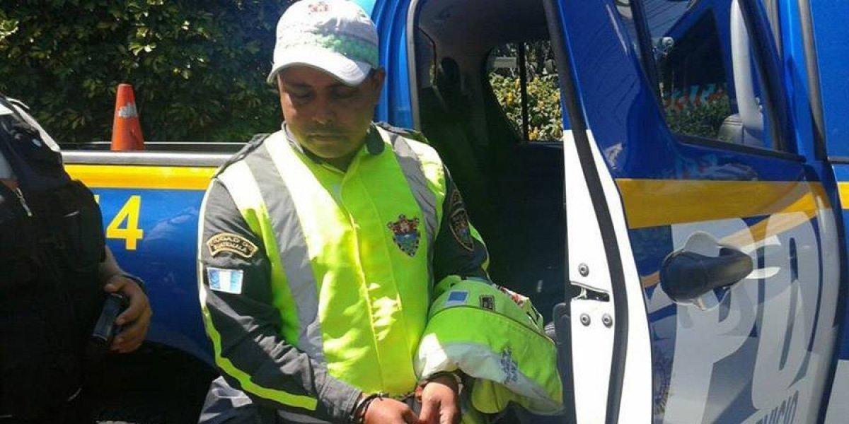 Agente PMT es capturado por segunda vez sindicado de extorsión