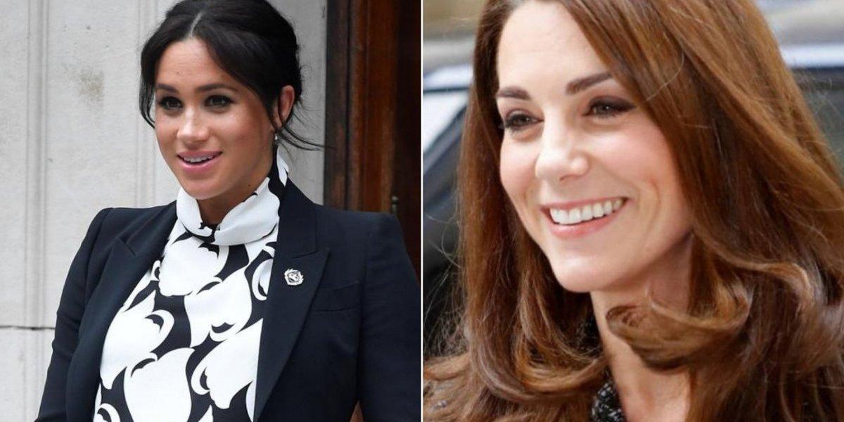 Meghan Markle se inspira em look de Kate Middleton grávida e esbanja ainda mais estilo