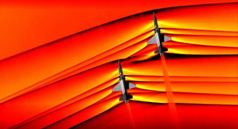 Observa las increíbles fotografías que tomó por primera vez la NASA de aviones rompiendo la barrera del sonido