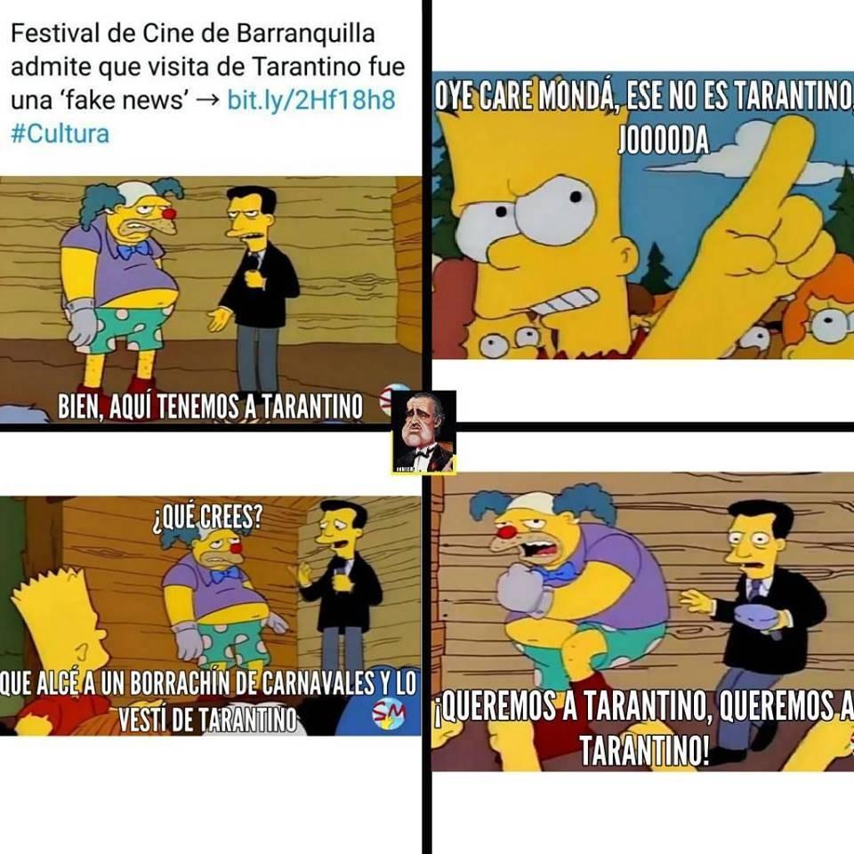 Estos fueron los memes que dejó la falsa noticia de la visita de Quentin Tarantino a Barranquilla